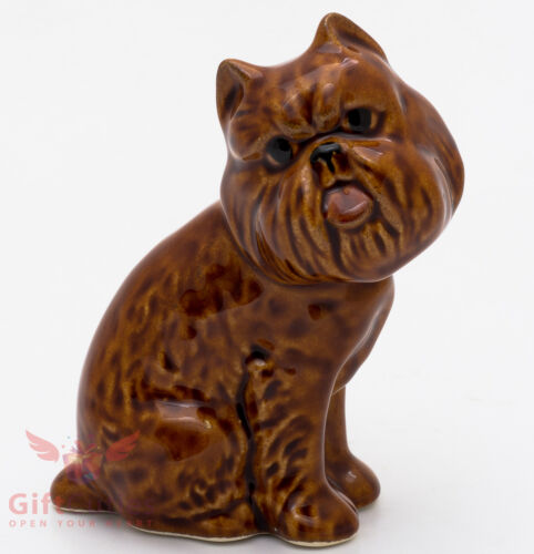 Porcelain Figurine of the Brussels Griffon dog