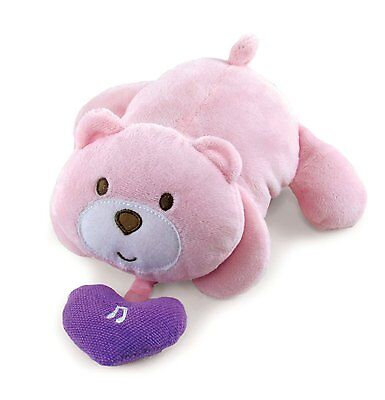 Kids Preferred Pink Bear Musical Pull Down Crib Toy Plush   New