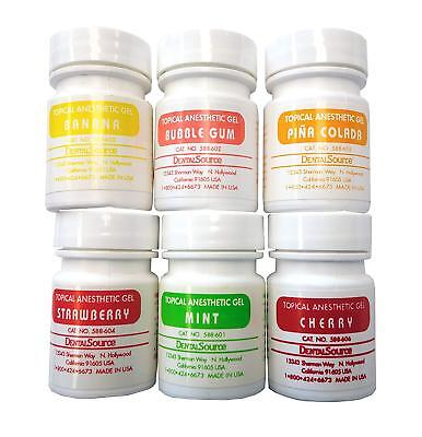 Topical Anesthetic Gel - 6 Jar Set Kit 6 X 30gm Dental Pain Reliever