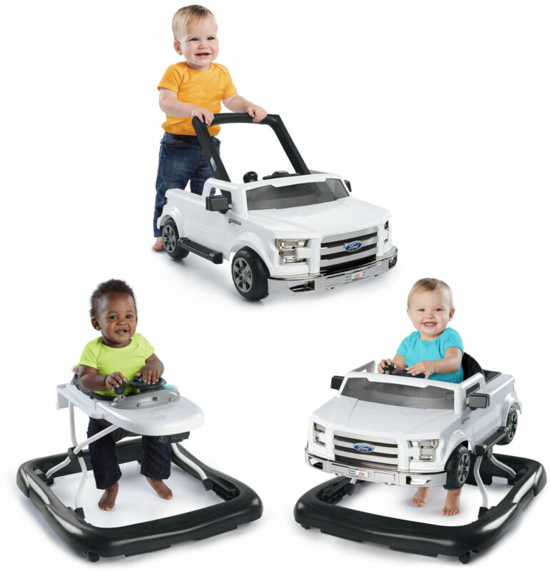 3 Ways To Play 3 in 1 Baby Walker - Ford F-150, White