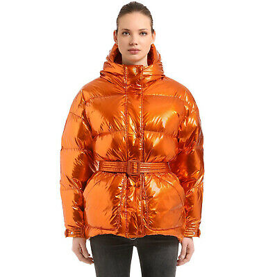 IENKI IENKI Michlin Foil Puffer Jacket Coat Down Copper Orange S