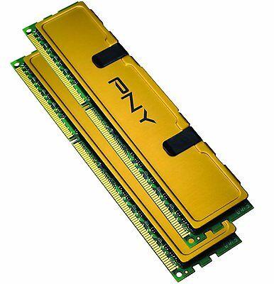PNY Optima 8GB 2x4 PC3-10666 DDR3 Desktop Memory RAM DIMM MD8192KD3-1333 New