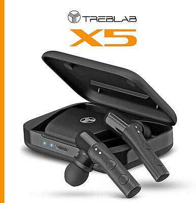 TREBLAB X5 Best Sports Bluetooth Earbuds True Wireless Earphones Truly Cordless
