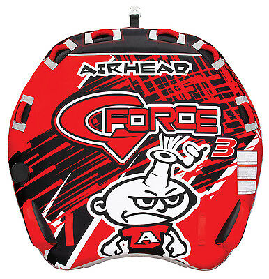 AIRHEAD AHGF-3 G-Force 3 Triple Rider Inflatable Towable Lake Performance Tube