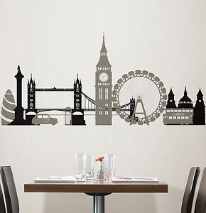 london bridge 27 wall stickers mural city buildings room wall stickers impression london wall art com