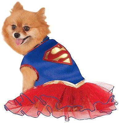 Haustier Hund Katze Super Mädchen Superwoman Halloween Kostüm Outfit Verkleidung