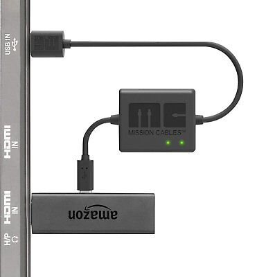 Mission Cables USB Power Cable for Amazon Fire TV Stick (Eliminate Adapter Need)