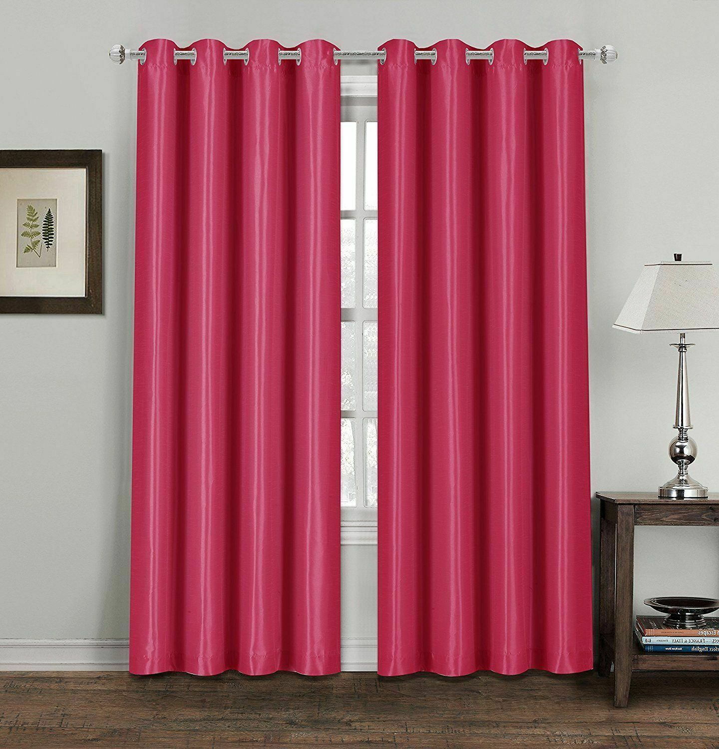 CREAM THERMAL BLACKOUT CURTAINS READY MADE EYELET RING TOP LINED CURTAINS