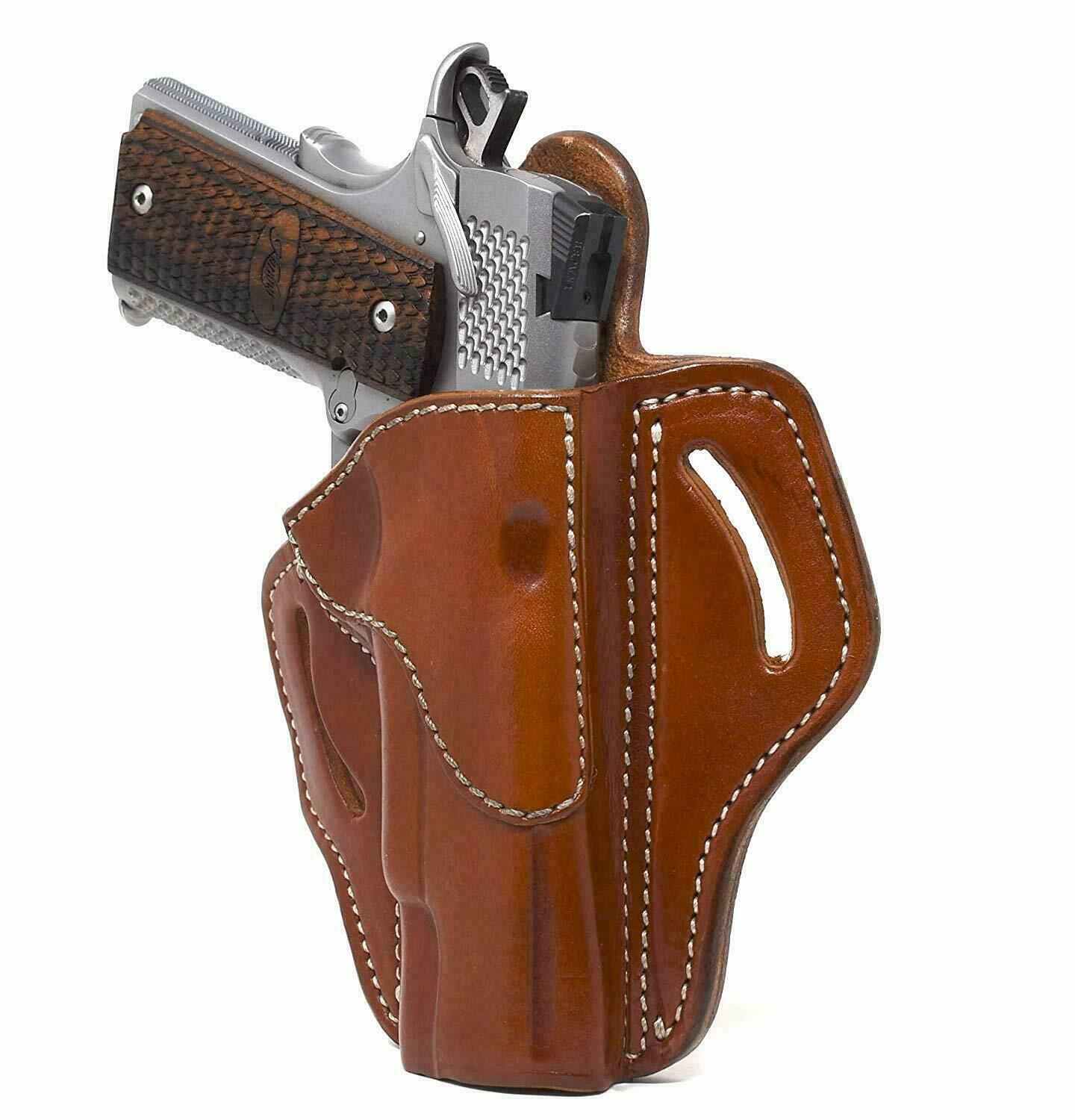 1791 Gunleather - 1911 Leather Holster - Right Handed OWB Gun Holster for Belts