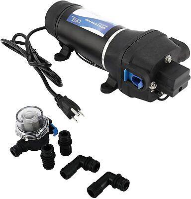 Ac 115v Self Priming Water Pressure Diaphragm Pump 17lpm4.5gpm 40psi2.8bar
