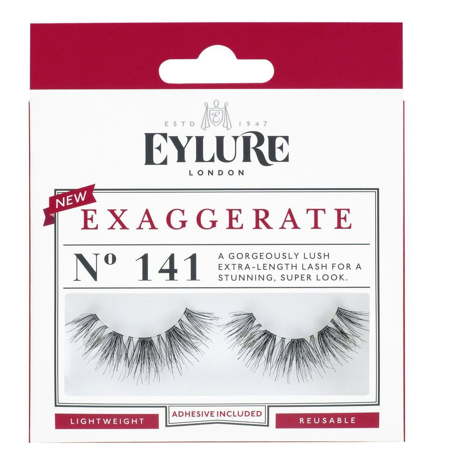0e7328c5900 EYLURE Strip Lashes Exaggerate Number 141 for sale online | eBay