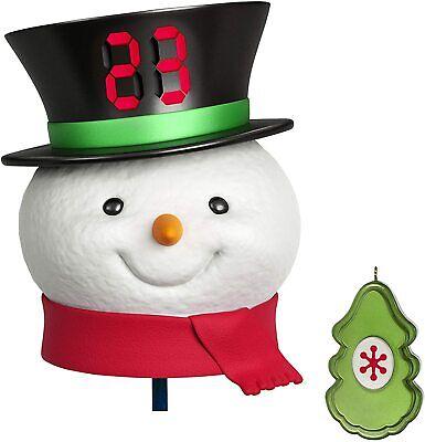 2020 HALLMARK COUNTDOWN TO CHRISTMAS SNOWMAN TREE TOPPER - MIB