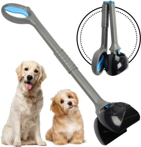 Non-Breakable Pet Pooper Scooper for Large& Small Dogs Long Handle Foldable Poop