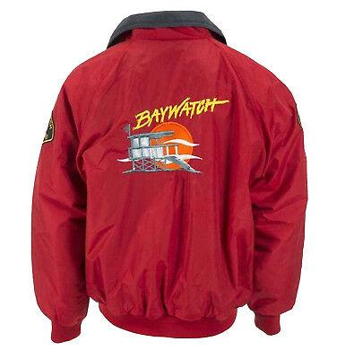 BAYWATCH RED LIFEGUARD COTTON BOMBER JACKET BEACH COSTUME  (Bomber Jacket Costume)