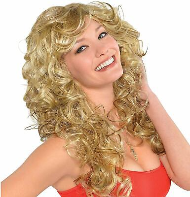 Blonde Bombshell Wig (amscan 844158 70s Bombshell Wig Standard Blonde  Curly Women Wig Party)