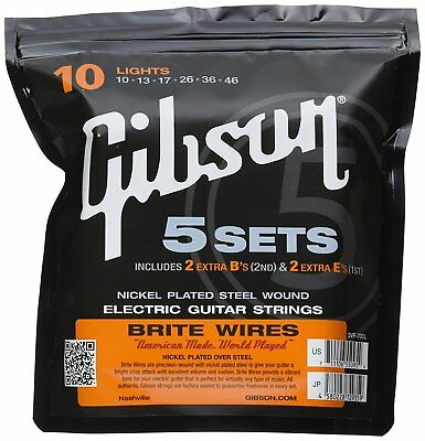 Gibson SVP-700UL Brite Wire ultra-light gauge 009-042 5 set pack