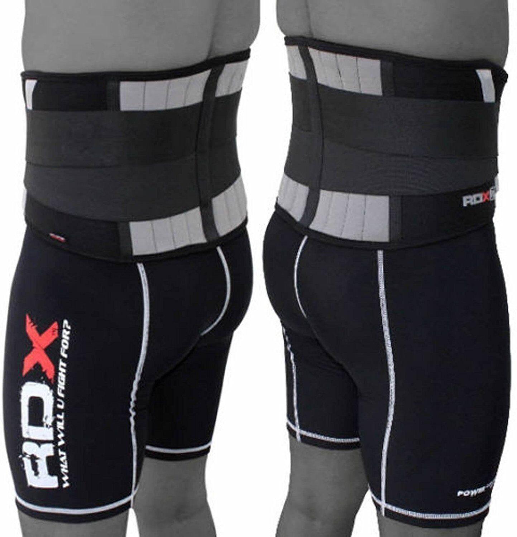 RDX Lumbar Lower Back Support Belt Pain Relief Gym Training Weight Lifting Waist