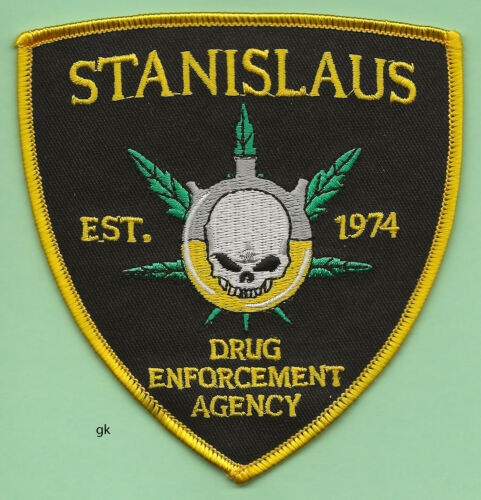 STANISLAUS COUNTY CALIFORNIA DRUG ENFORCEMENT AGENCY POLICE SHOULDER PATCH