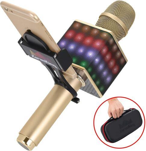 Karaoke Portable Wireless Bluetooth Microphone Speaker + Phone Holder -KaraoKing