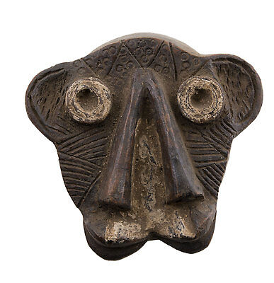 Mask African Janus Passport Miniature Divination Fetish 6495 B2B