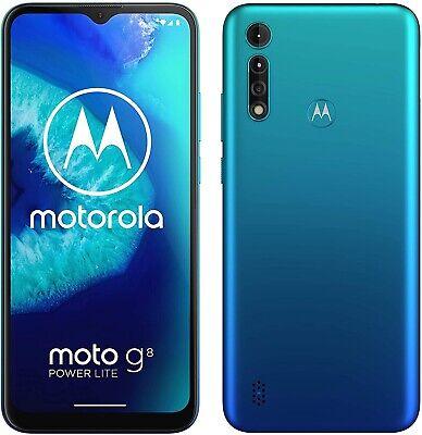 Motorola Moto G8 Power Lite 6.5'' 4G Smartphone 64GB Unlocked - Arctic Blue A
