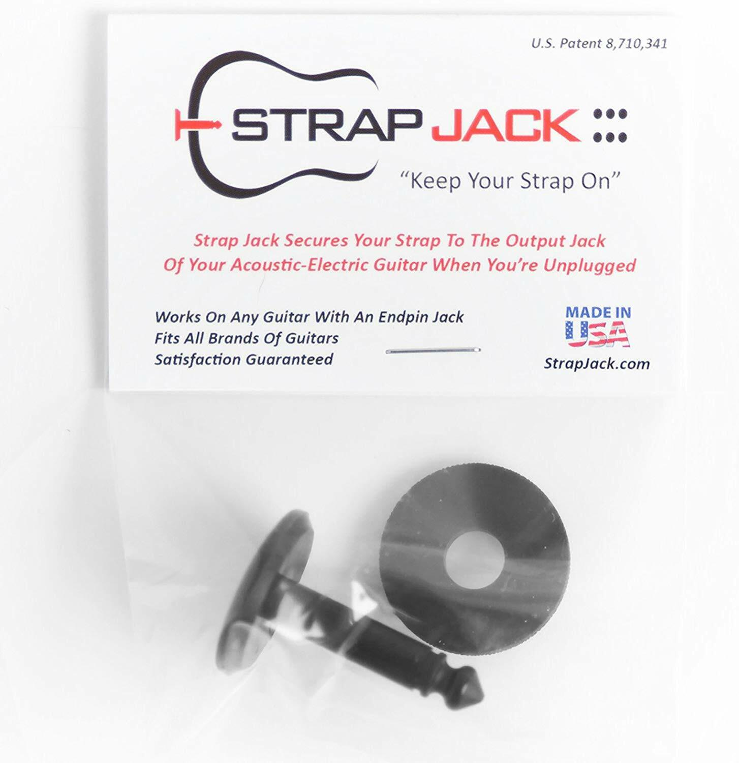 Strap Jack Guitar Strap Lock System For Acoustic - Electric