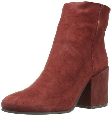 Lucky Brand Women's Ravynn Rear Zip Closure Leather Ankle Bo
