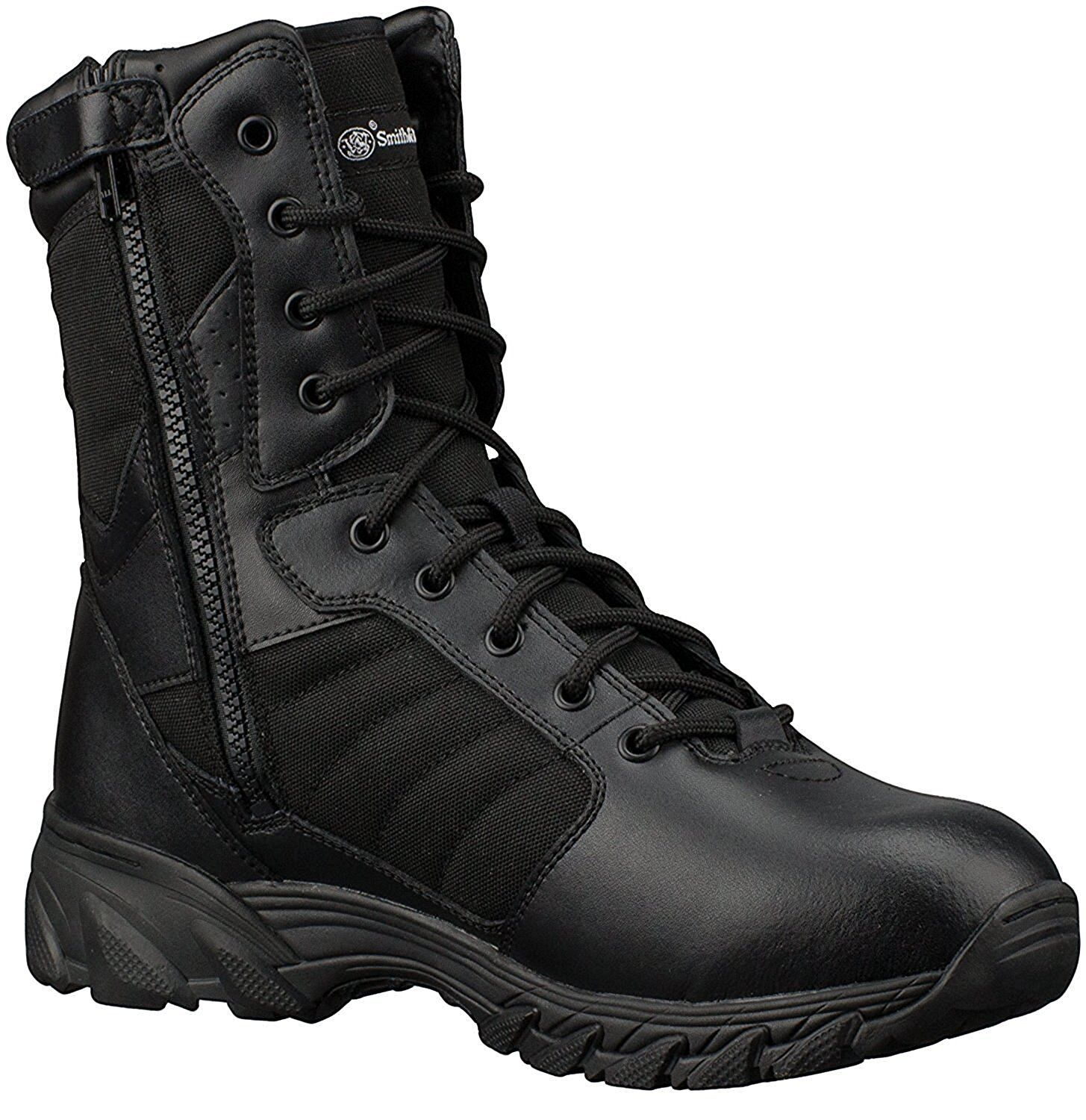 """Smith & Wesson Breach 2.0 Men's Tactical Side-Zip 8"""" Boots 1"""