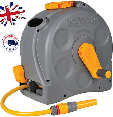 Hozelock Compact 2in1 Reel with 25m Hose Garden Outdoor Wall Mounted Watering UK