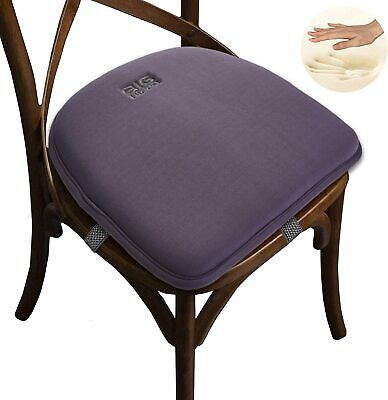 Chair Pad Memory Foam Chair Seat Cushion Non Slip Rubber Back With Elastic Bands