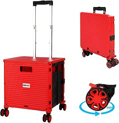 Rolling Cart - Mobile Trolley Box For Shopping Office Travel