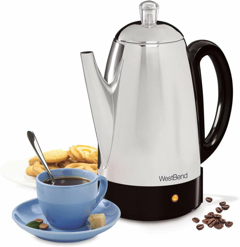 West Bend 54159 Classic Stainless Steel Electric Coffee Perc