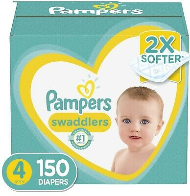 Pampers Swaddlers Diapers Disposable Size 4, 150 Count