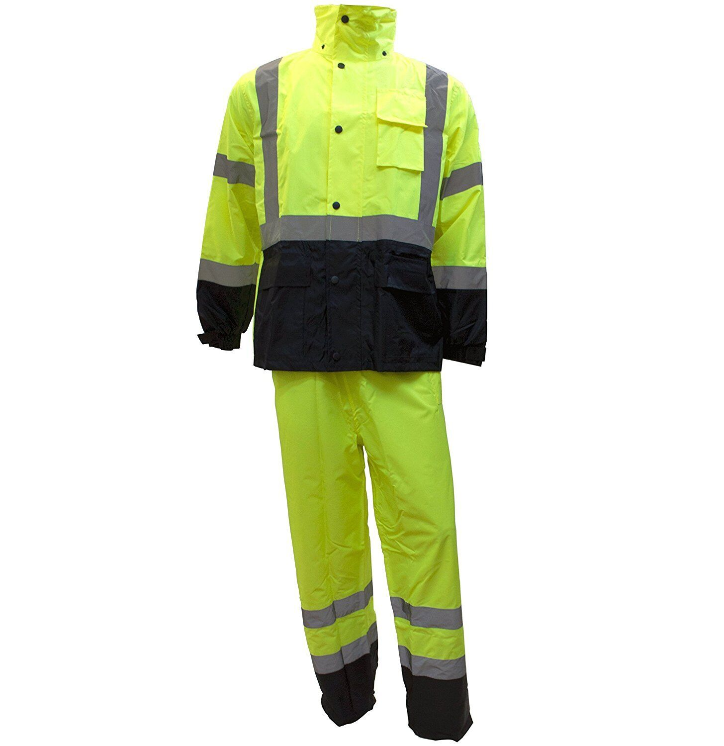 Rk Safety Class 3 Rain Suit High Visibility Reflective Bl...