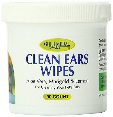 Gold Medal Pets Clean Ears Wipes for Dogs and Cats, 90 Count