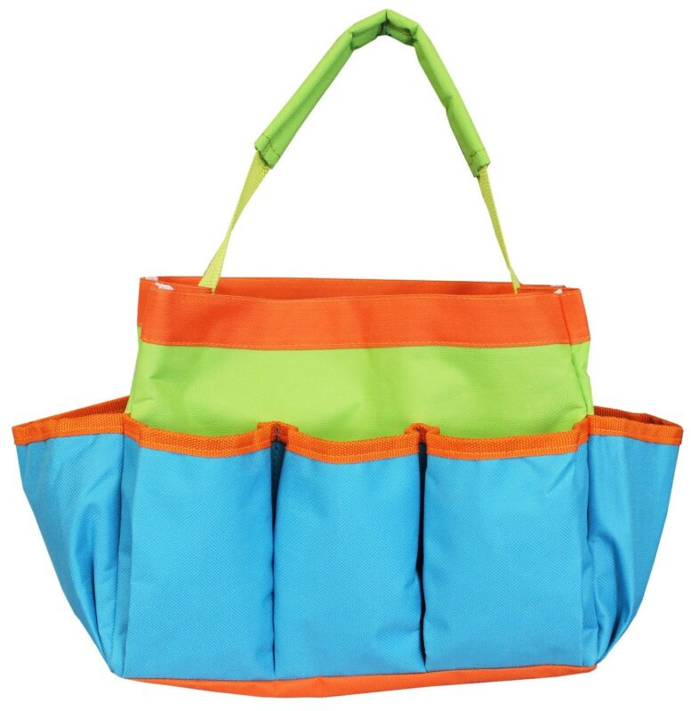 """Project Tote - 10 x 8 x 5"""" Blue, Green, and Orange from Allary #1610"""