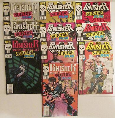 THE PUNISHER: Suicide Run #1 - 10 Complete Set - Frank Castle - Marvel Comic Lot