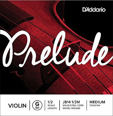 D'Addario J814 1/2M Prelude Violin Single G String, 1/2 Scale, Medium Tension