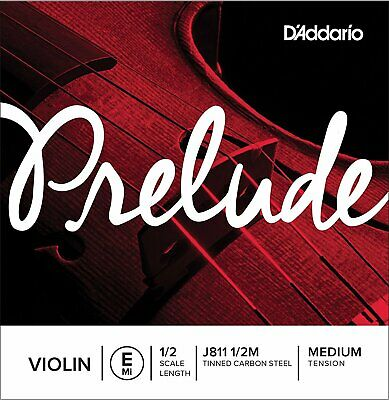 D'addario J811 1/2M Prelude Violin Single E String, Medium Tension 1/2 Scale