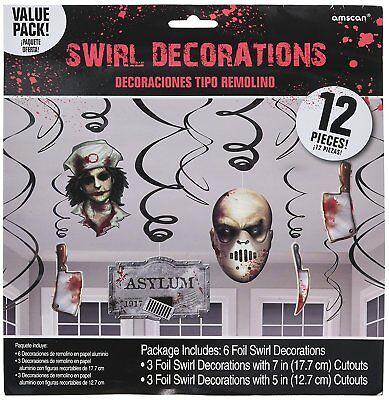 Asylum Halloween Decoration Birthday Party Supplies Dangler Pack of 12 - Halloween Asylum