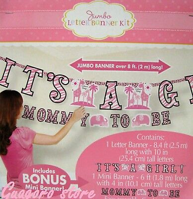 Pink Safari Baby Shower Decorations (SWEET SAFARI GIRL JUMBO LETTER BANNER KIT BABY SHOWER JUNGLE PARTY SUPPLY)