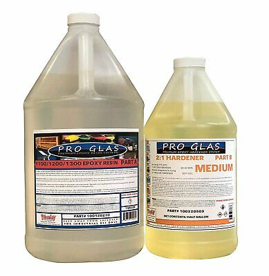 Epoxy Laminating Resin 21 Kit Uv Stable High Strength .75 Gallon Kit- Medium