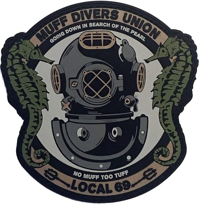 """Muff Divers Union"" - PVC Morale Patch With Hook And Loop Backing"