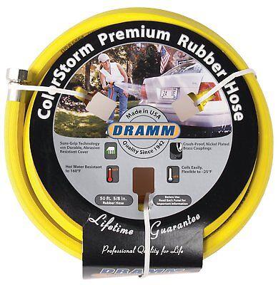 Color Storm Premium Rubber Hose - Dramm 17003 ColorStorm Premium 50-Foot-by-5/8-Inch Rubber Garden Hose, Yellow