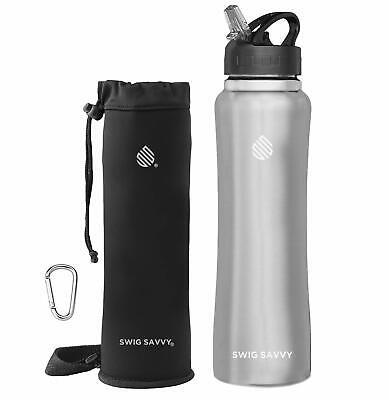 Contigo 20oz Water Bottle Thermalock Stainlss Steel 2Pk Mat Black Ombre 10587003