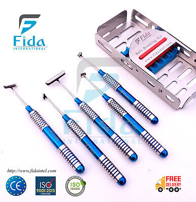 Soft Brushing Kit Set Of 5 Dental Implant Surgery Instruments Kit Ce Approved