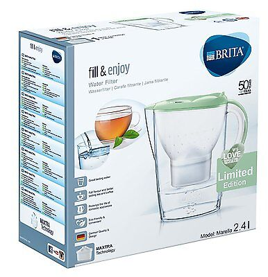 BRITA Marella Water Filter Jug + 1 MAXTRA Cartridge - Pastel Green