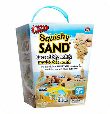 Wham-O Squishy Sand Kids Play Area Sand Mould Squish Scuplting Sand