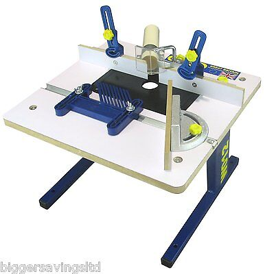 """CHARNWOOD W012 BENCH TOP ROUTER TABLE, FITS ANY 1/4"""" ROUTER"""