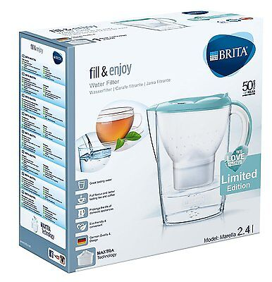 BRITA Marella Water Filter Jug + 1 MAXTRA Cartridge - Pastel Blue